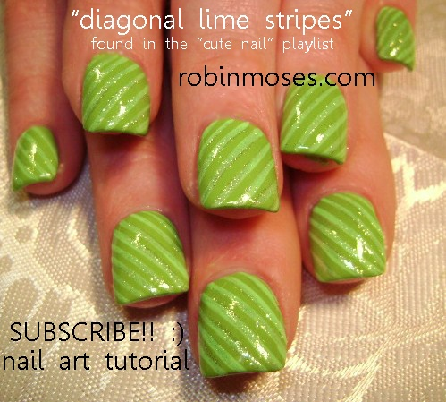 Nail-art by Robin Moses: DAY OF THE DEAD girl RED AND BLACK nail art design, gothic black and white rose nail art design, simple diagonal green with green stripes nail art design......robin moses nailart for friday