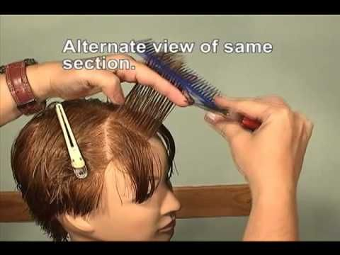 FREE HAIRDRESSING LESSON, How to layer bangs - YouTube