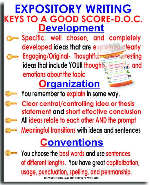 Expository Writing Keys by The Writing Doctor, via Flickr