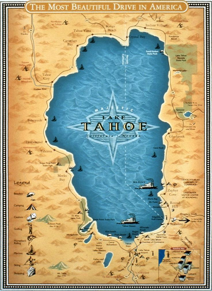 It's just a photo of Exhilarating Printable Map of Lake Tahoe