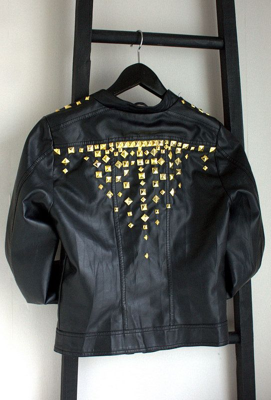 DIY rivet leather jacket
