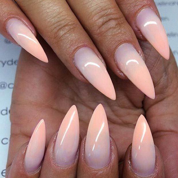 Ombre Stiletto Nail Design