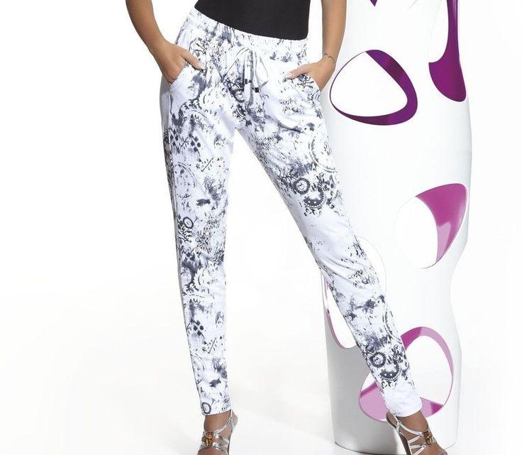 Pantalon ceinture élastique femme mode fashion BAS BLEU melody Tailles S M L #Autrespantalons