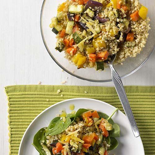 Bulgursalade met geroosterde groenten
