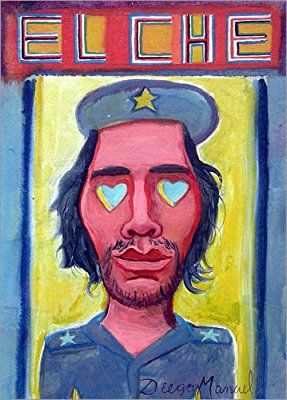 Forex-Platte 90 x 120 cm: El Che mit Herzchen von Diego Manuel Rodriguez