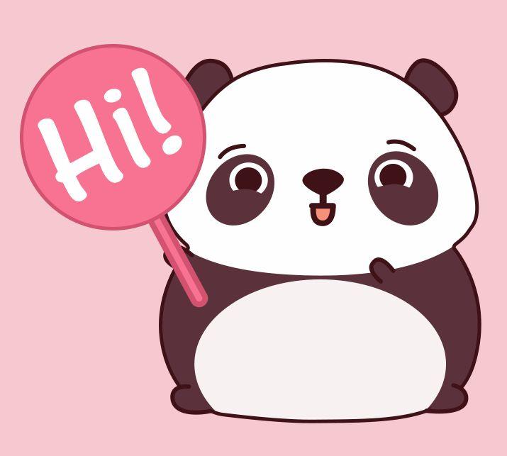 Hi, I\'m Malwynn the panda | pandas | Fofura, Ilustração y Papeis de ...