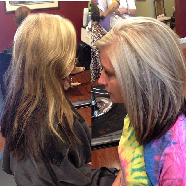 hair, blonde with brown underneath, highlights, short ...