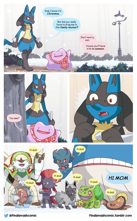 And you thought Christmas with *your* family was awkward! :) (OC comic) : pokemon