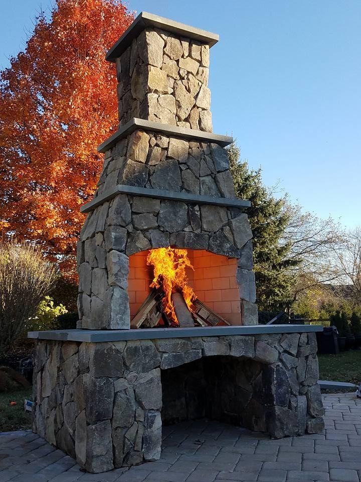 254 Best Outdoor Fireplaces Images On Pinterest Outdoor