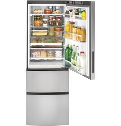 Shop GE 11.9-cu ft Counter-Depth Bottom-Freezer Refrigerator (Stainless Steel) ENERGY STAR at Lowes.com