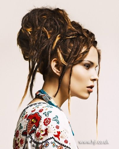 Photo of 2012 dreadlock style updo hair hairstyle