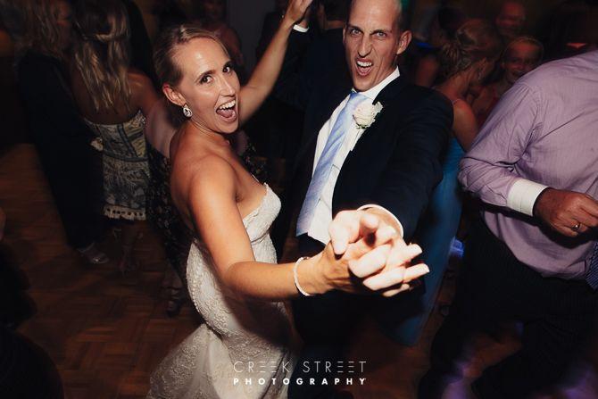 Bride and groom at taronga centre reception