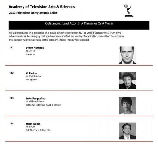 Diogo Morgado nomeado para um Emmy