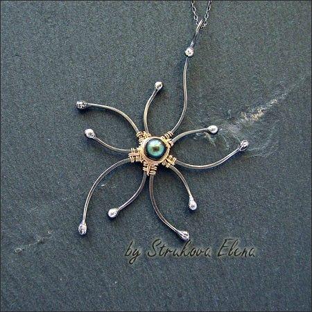Strukova Elena - авторские украшения - цветочный кулон..ещё один