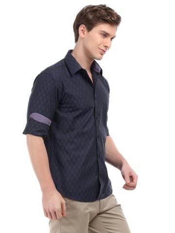 V Dot Men Blue Checked Shirt | Myntra via @Myntra.com PRODUCT CODE: 119369  Rs. 2,299