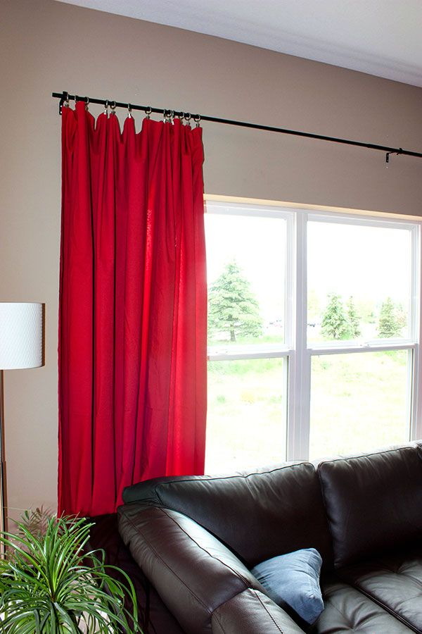 Worldu0027s Easiest Extra Wide Curtains