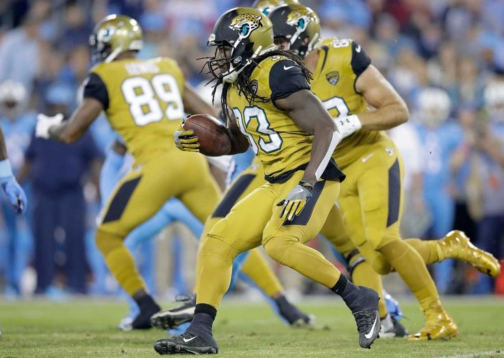 Thursday Night Football: Jaguars vs. Titans:    October 27, 2016  -  36-22, Titans   -    Chris Ivory #33 of the Jacksonville Jaguars runs with the ball during the first quarter of a game against the Tennessee Titans at Nissan Stadium on Oct. 27, 2016 in Nashville.
