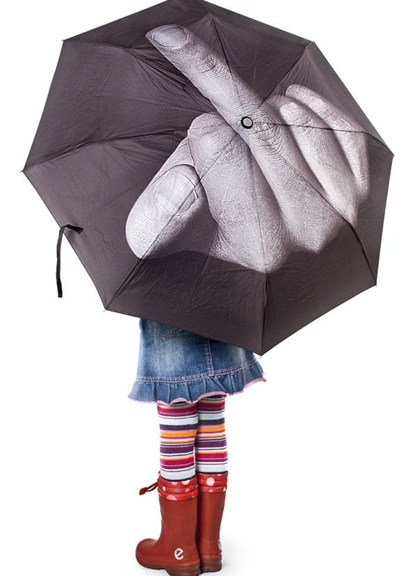 """Fuck The Rain"" is desgned by designer Anton Schnaider from Art. Lebedev Studio."