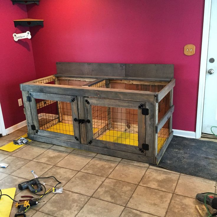 1000 ideas about dog crate furniture on pinterest dog for Pallet dog crate