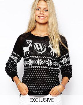 #red #christmas #knit #cardigan #cardi #fashion  #cool #deer #xmas #natale #rosso #knitwear #asos