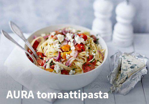 AURA tomaattipasta  Resepti: Valio #kauppahalli24 #ruoka #resepti #tomaattipasta