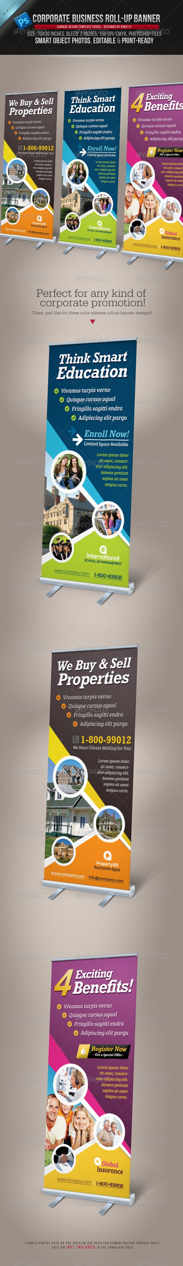 Corporate Business Roll-up Banner Template - The template files are available here: http://graphicriver.net/item/corporate-business-rollup-banner/3740415?r=kinzi21