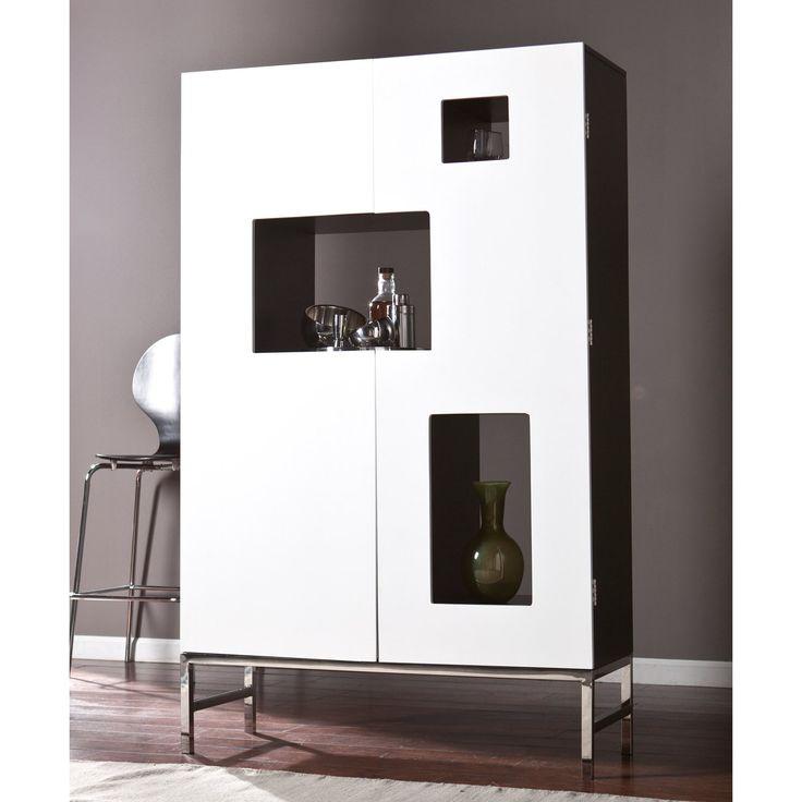 Southern Enterprises Shadowbox Wine/Bar Cabinet | from hayneedle.com