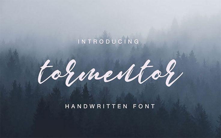 tormentor-handwritten-font