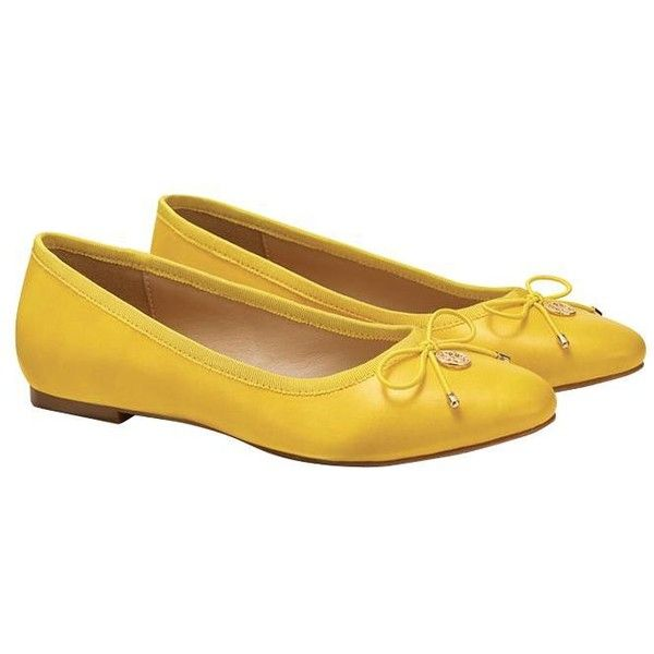 Cushion Walk Yellow Ballet Flats by AVON (295 ZAR) ❤ liked on Polyvore featuring shoes, flats, avon, yellow, skimmer flats, ballet shoes, ballet pumps, yellow shoes and ballerina pumps