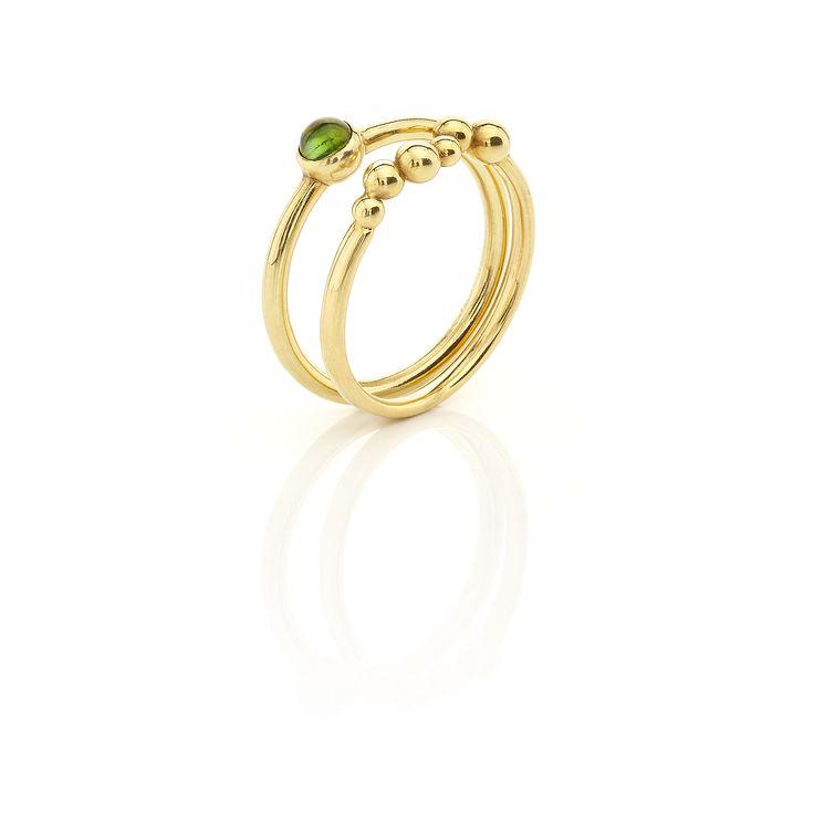 Yellow gold rings #huffyjewels   www.huffyjewels.com