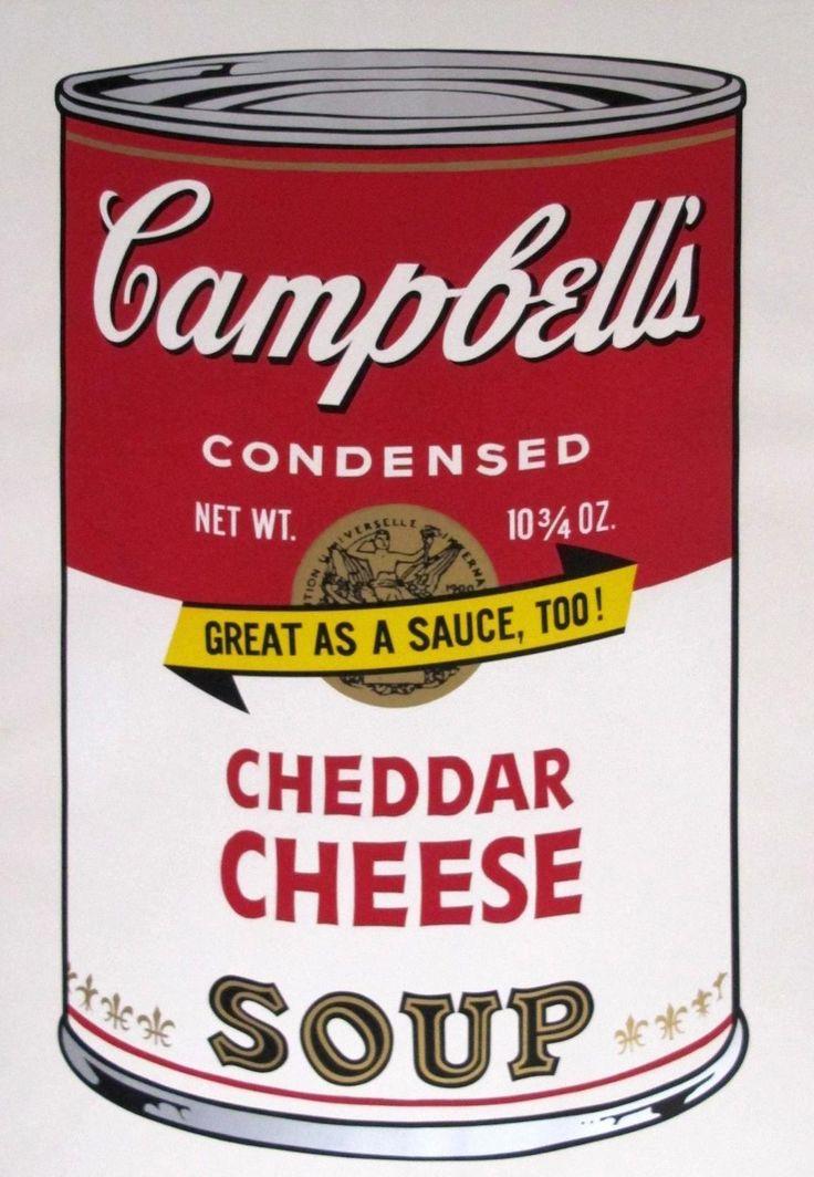 Andy Warhol - Campbells Soup Cheddar Cheese, Sunday B. Morning   Oeuvre d'Art en Vente Artsper