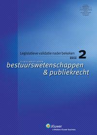 Tijdschrift voor bestuurswetenschappen & publiek recht. Plaats: 34