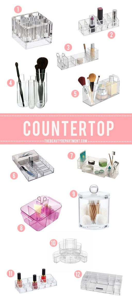Countertop makeup and beauty product organisation for your bathroom or vanity | #clairetaylormua