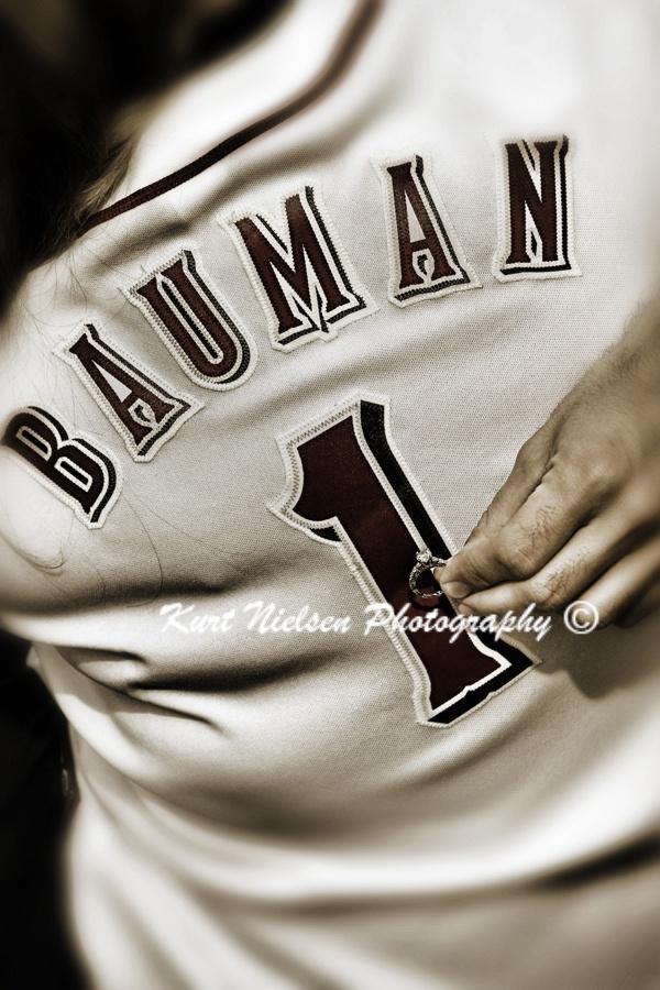 Baseball Engagement Photo Idea    Toledo Engagement Photographer