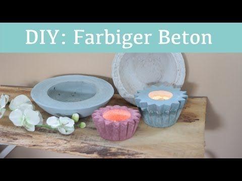 ▶ DIY: Wohnaccessoires aus gefärbtem Beton - YouTube