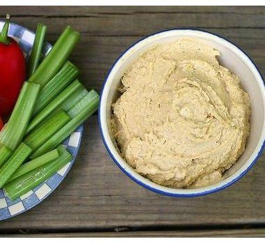 Чесночный хумус - простой и быстрый