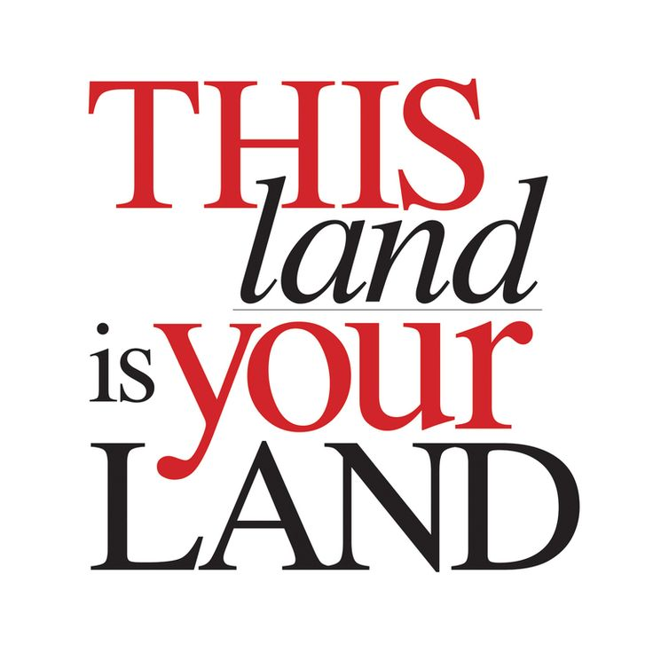 This Land, Screenprint, typography, graphic, land, folk, music