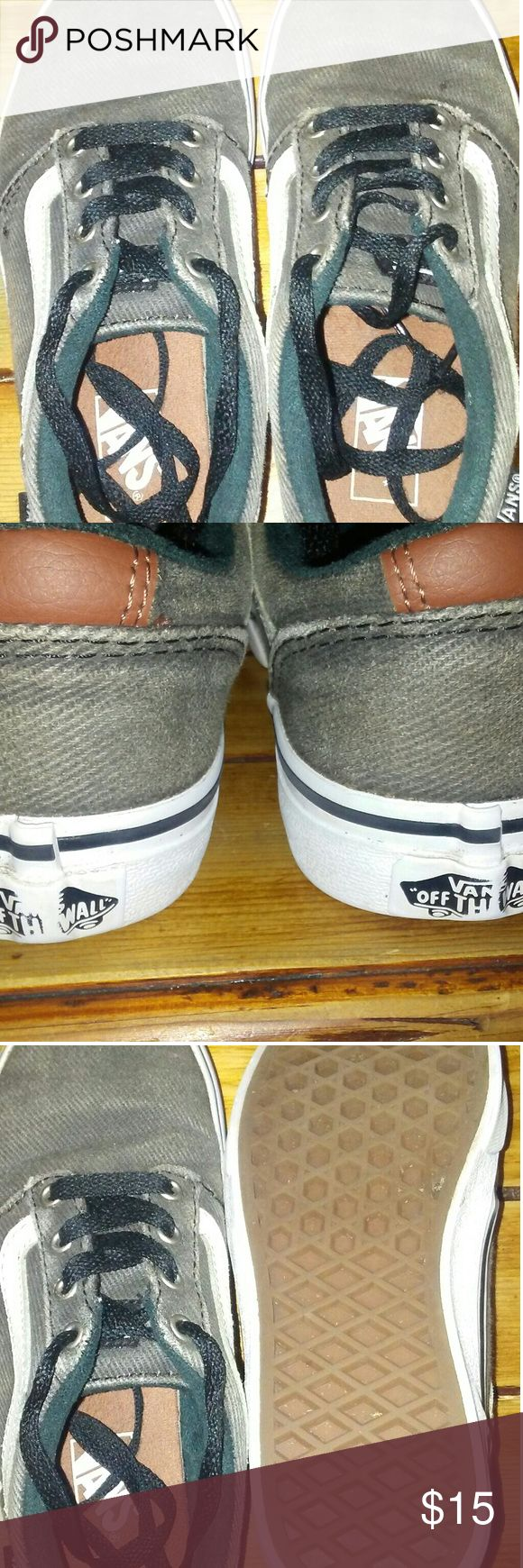Boys Vans Off The Wall Shoes GUC Gray Vans, worn about 5 times before he outgrew them. Vans Shoes Sneakers