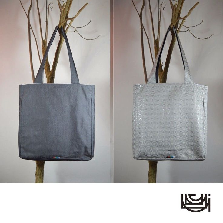 "Chunky Shoulder Tote Bag with Zipper Pockets ""Graphite Ovals"""