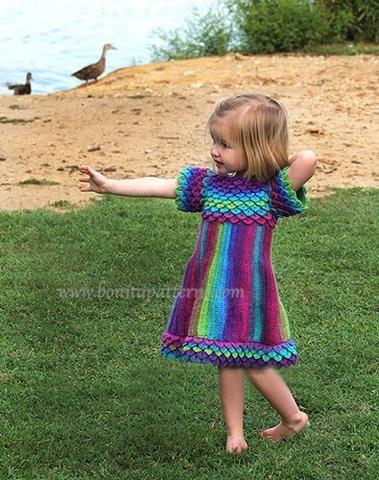 Crocodile Stitch Girly Dress