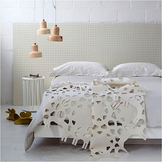 """""""We'd never noticed that when pegboard is used in a NON-utilitarian way, it acts as a wonderful design element."""""""