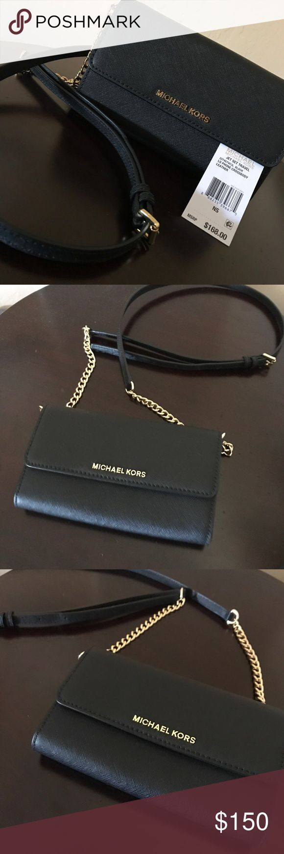 Michael Kors Crossbody Beautiful Michael Kors Saffiano Leather Crossbody, never been used, cell phone pocket, 5 card slot, adjustable cross body strap, in mint condition, comes with dust bag!! Beautiful bag for a nice price!! 😊👏🏼👌🏼🤗😉😘👜 Michael Kors Bags Crossbody Bags