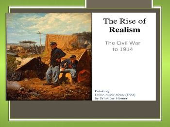 the rise to realism William dean howells, an early advocator of realism, wrote novels that supported  his beliefs he included romantic elements in his novels, however, to show.