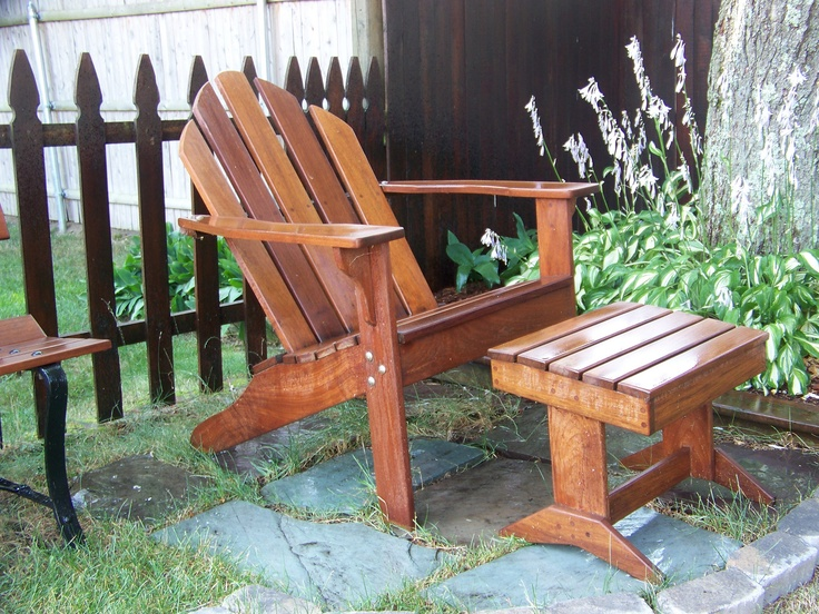 Adirondack Chair And Ottoman We Made Using Ipe And Finished With Penofin Oil.  Chair And OttomanAdirondack ChairsOutdoor ... Part 77