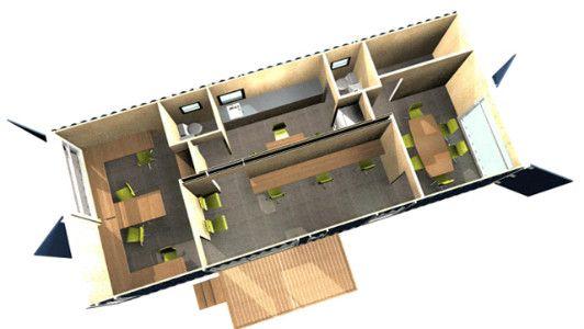 M s de 25 ideas incre bles sobre casas de contenedores for Diseno de oficinas con contenedores