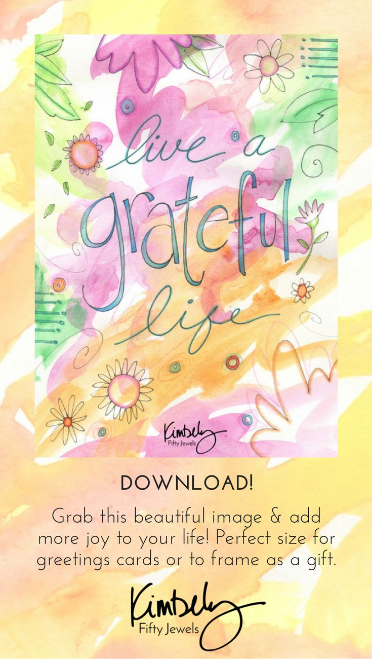 Get your Gratitude on with this charming new design! Perfectly sized to create your own greeting card or to frame as a print -- grab yours now and add more joy into life! CLICK NOW! FiftyJewels.com