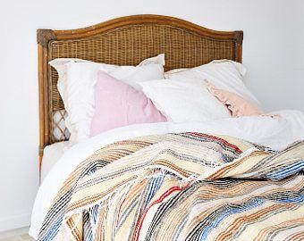 Moroccan Blanket | Handwoven Moroccan bedding | King Size Blanket