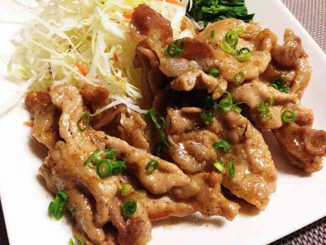 ポン酢で簡単豚ロース薄切り肉の生姜焼きの画像