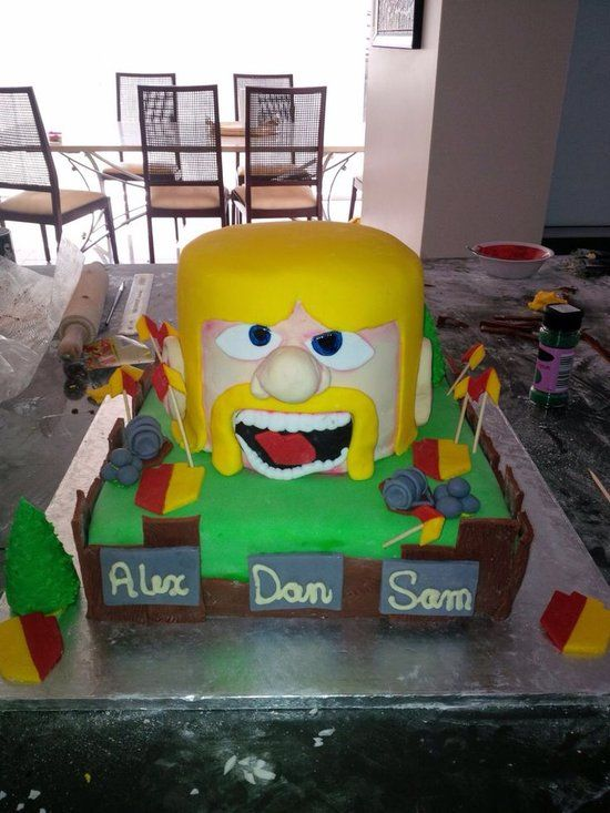 Awesome pictures of clash of clans : what does clash of clans cake look like? 5
