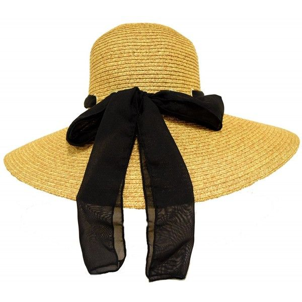 ab392e27ad4 Great Deals! Golden Tan Hat w  Black Scarf Through Eyelets ...